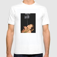 smoke crown White SMALL Mens Fitted Tee