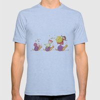 Babies In A Snails Mens Fitted Tee Athletic Blue SMALL