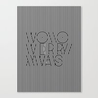 Mono Merry Xmas Canvas Print