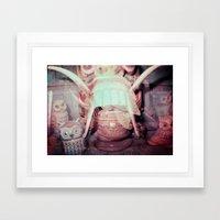 The Tribes Meet Owls Framed Art Print
