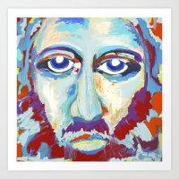 jesus Art Prints featuring Jesus  by melissa lyons