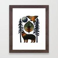 The Bear and the Barn Owl Framed Art Print