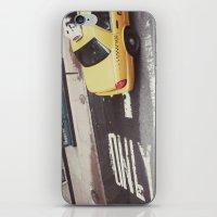 one way taxi:: nyc iPhone & iPod Skin