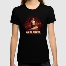 AVALANCHE Wants YOU! Womens Fitted Tee Black SMALL