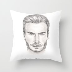David Beckham Throw Pillow