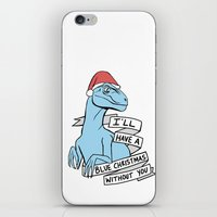 Blue Christmas iPhone & iPod Skin