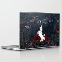 unicorn Laptop & iPad Skins featuring Unicorn by Danse de Lune