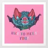Nice to Meet You! Art Print