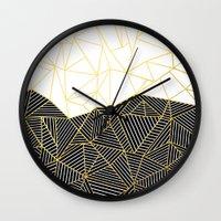 Ab Half and Half White Gold Wall Clock
