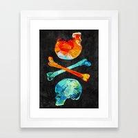 Fire & Ice Framed Art Print