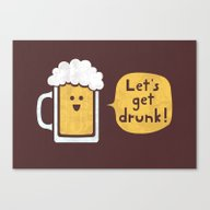 Drinking Buddy Canvas Print