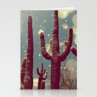 Space Cactus Stationery Cards