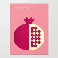 Fruit: Pomegranate Canvas Print