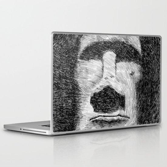 Easter island - Moai statue - Ink Laptop & iPad Skin