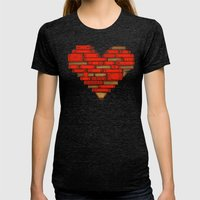 Book Love Womens Fitted Tee Tri-Black SMALL