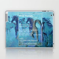 Wild Horses: Poem and Painting Laptop & iPad Skin