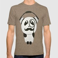 Professor Panda Mens Fitted Tee Tri-Coffee SMALL
