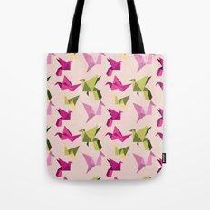 pink paper cranes Tote Bag