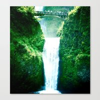 Canvas Print featuring Multnoman falls, OR by rachellam