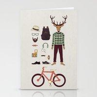 Deer Boy Stationery Cards