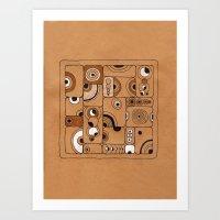 The Tile Art Print