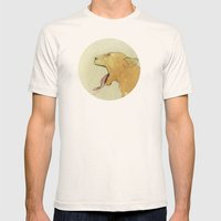 The lady and the lion. Mens Fitted Tee Natural SMALL