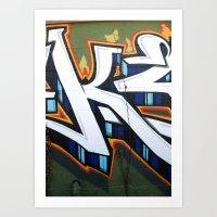 Graffiti In East Austin Art Print