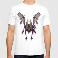 Gaping Dragon (Dark Souls) Mens Fitted Tee White SMALL