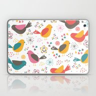Laptop & iPad Skin featuring Quirky Chicks by Poppy & Red
