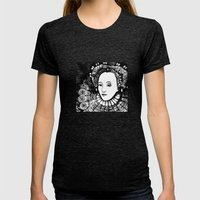 Queen Elizabeth I Portrait  Womens Fitted Tee Tri-Black SMALL
