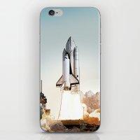 Rocket launch iPhone & iPod Skin