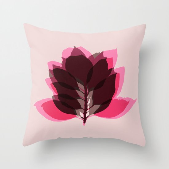 Blossom Pink Throw Pillow