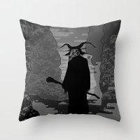 The Demon Throw Pillow
