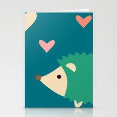 Hedgehog Teal Stationery Cards