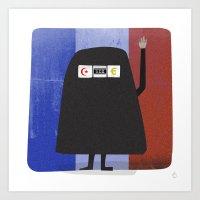 Burqa Ban - Luck Be A La… Art Print