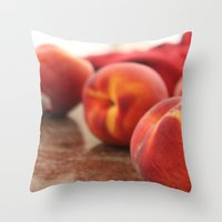 Peaches For Days Throw Pillow