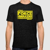 The Force Awakens In Yel… Mens Fitted Tee Tri-Black SMALL