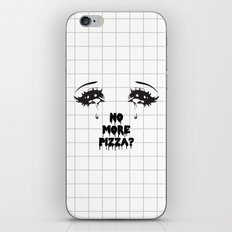 NO MORE PIZZA iPhone & iPod Skin