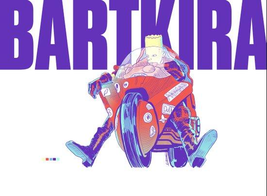 Bartkira on Motorcylce Art Print