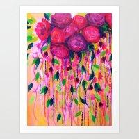 ROSES ARE RAD 2- Bold Pi… Art Print