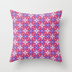Watercolor Geometry Mod Pink Throw Pillow
