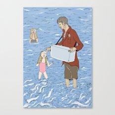 Ice Creamed Canvas Print