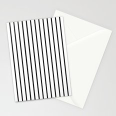 Vertical Lines (Black/White) Stationery Cards