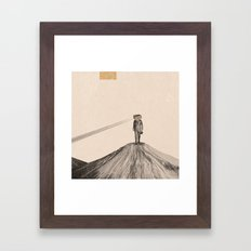 Walking Man Framed Art Print
