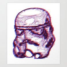 Stormtrooper Helmut 3D Art Print
