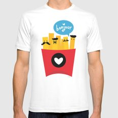 French Fries SMALL White Mens Fitted Tee