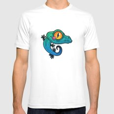 Gecko White Mens Fitted Tee SMALL