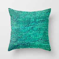Code_forest Throw Pillow