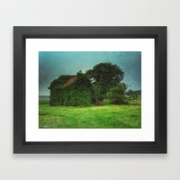 house with ghosts  Framed Art Print