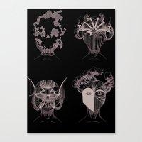 quatre éléments, autant de forces domestiquées par l'homme Canvas Print